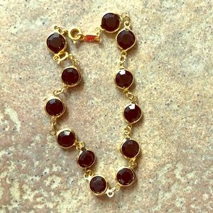 "Swarovski ""Bezel"" black & gold tennis bracelet"